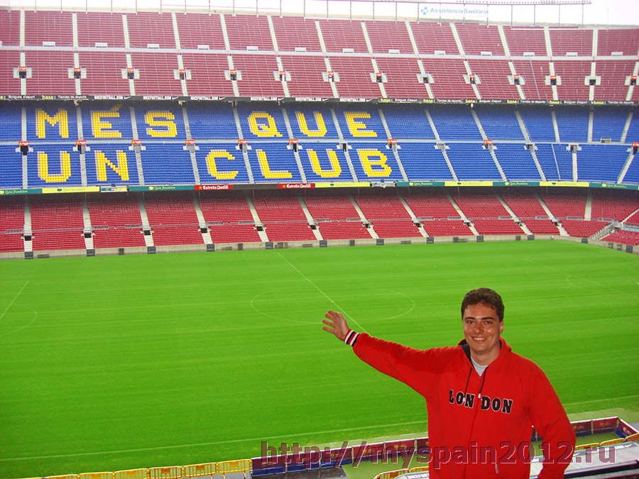 """Стадион """"Камп Ноу"""" - знаменитая арена """"Барселоны"""" Стадион Барселоны Вместимость"""
