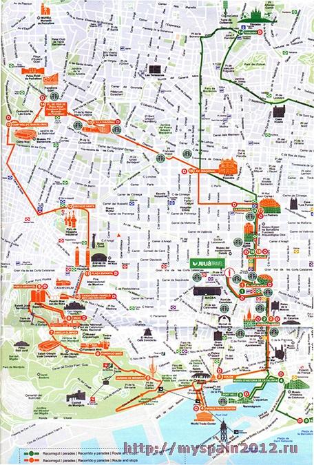 "Карта автобуса ""Barcelona City"